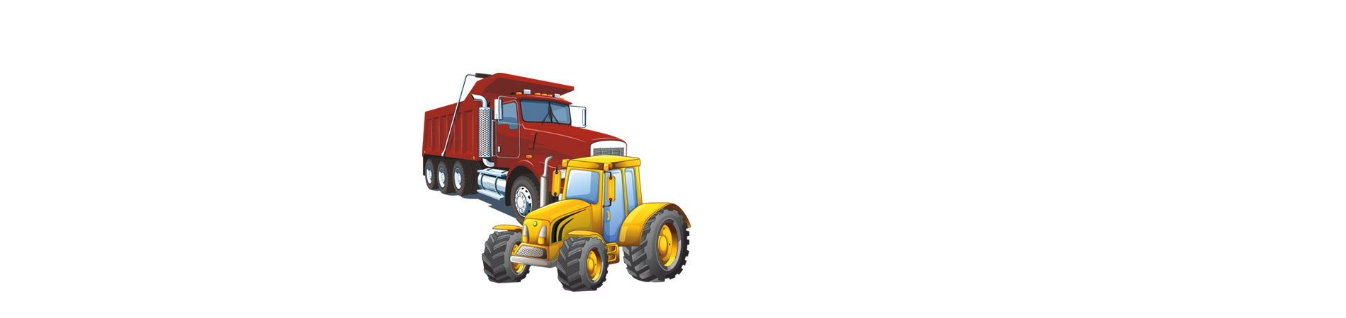 Dump and Tractor